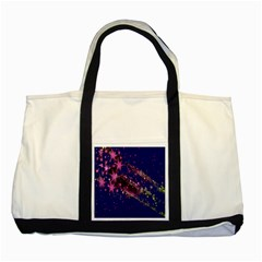 Stars Abstract Shine Spots Lines Two Tone Tote Bag