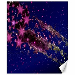 Stars Abstract Shine Spots Lines Canvas 8  X 10