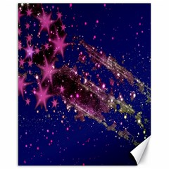 Stars Abstract Shine Spots Lines Canvas 16  x 20