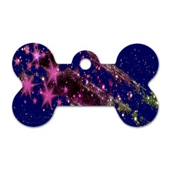 Stars Abstract Shine Spots Lines Dog Tag Bone (one Side)