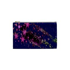 Stars Abstract Shine Spots Lines Cosmetic Bag (Small)
