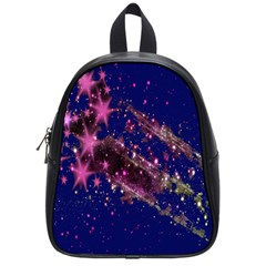 Stars Abstract Shine Spots Lines School Bags (small)