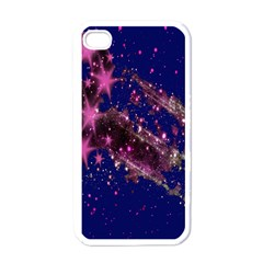 Stars Abstract Shine Spots Lines Apple iPhone 4 Case (White)
