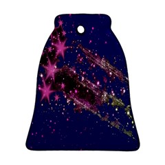 Stars Abstract Shine Spots Lines Ornament (Bell)