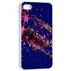 Stars Abstract Shine Spots Lines Apple iPhone 4/4s Seamless Case (White)