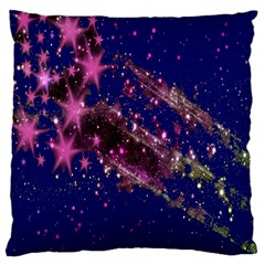 Stars Abstract Shine Spots Lines Large Cushion Case (One Side)