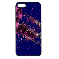 Stars Abstract Shine Spots Lines Apple iPhone 5 Seamless Case (Black)
