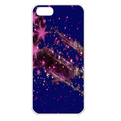 Stars Abstract Shine Spots Lines Apple iPhone 5 Seamless Case (White)