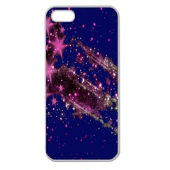 Stars Abstract Shine Spots Lines Apple Seamless iPhone 5 Case (Clear)