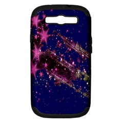 Stars Abstract Shine Spots Lines Samsung Galaxy S III Hardshell Case (PC+Silicone)