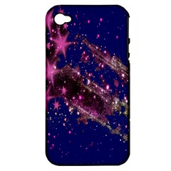 Stars Abstract Shine Spots Lines Apple Iphone 4/4s Hardshell Case (pc+silicone)