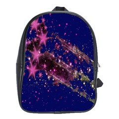 Stars Abstract Shine Spots Lines School Bags (XL)