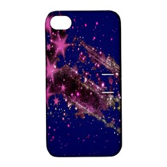 Stars Abstract Shine Spots Lines Apple iPhone 4/4S Hardshell Case with Stand