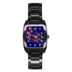 Stars Abstract Shine Spots Lines Stainless Steel Barrel Watch