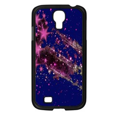 Stars Abstract Shine Spots Lines Samsung Galaxy S4 I9500/ I9505 Case (Black)