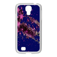 Stars Abstract Shine Spots Lines Samsung GALAXY S4 I9500/ I9505 Case (White)
