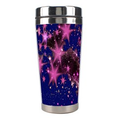 Stars Abstract Shine Spots Lines Stainless Steel Travel Tumblers