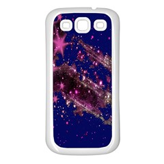 Stars Abstract Shine Spots Lines Samsung Galaxy S3 Back Case (White)