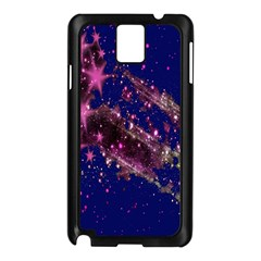 Stars Abstract Shine Spots Lines Samsung Galaxy Note 3 N9005 Case (Black)