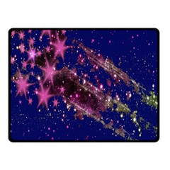 Stars Abstract Shine Spots Lines Double Sided Fleece Blanket (Small)