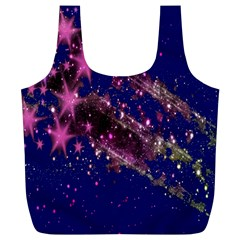 Stars Abstract Shine Spots Lines Full Print Recycle Bags (L)