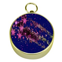 Stars Abstract Shine Spots Lines Gold Compasses