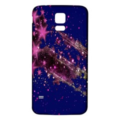 Stars Abstract Shine Spots Lines Samsung Galaxy S5 Back Case (White)