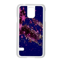 Stars Abstract Shine Spots Lines Samsung Galaxy S5 Case (White)