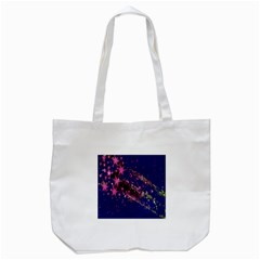 Stars Abstract Shine Spots Lines Tote Bag (white)