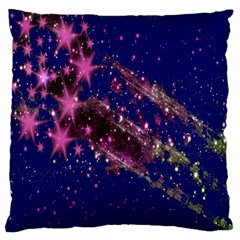 Stars Abstract Shine Spots Lines Large Flano Cushion Case (Two Sides)