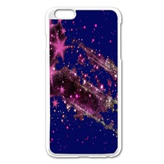 Stars Abstract Shine Spots Lines Apple iPhone 6 Plus/6S Plus Enamel White Case