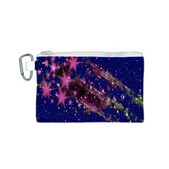 Stars Abstract Shine Spots Lines Canvas Cosmetic Bag (S)