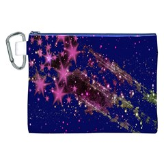 Stars Abstract Shine Spots Lines Canvas Cosmetic Bag (xxl)