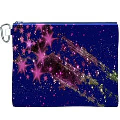 Stars Abstract Shine Spots Lines Canvas Cosmetic Bag (XXXL)