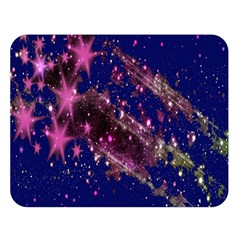 Stars Abstract Shine Spots Lines Double Sided Flano Blanket (Large)