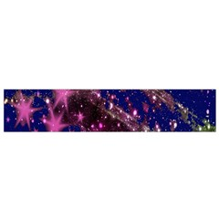 Stars Abstract Shine Spots Lines Flano Scarf (small)