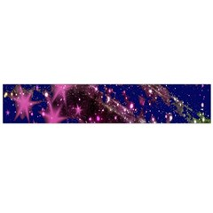 Stars Abstract Shine Spots Lines Flano Scarf (Large)
