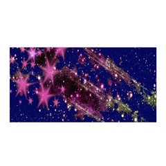 Stars Abstract Shine Spots Lines Satin Wrap