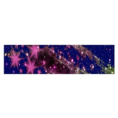 Stars Abstract Shine Spots Lines Satin Scarf (oblong)