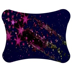Stars Abstract Shine Spots Lines Jigsaw Puzzle Photo Stand (bow)