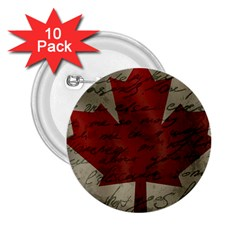 Canada flag 2.25  Buttons (10 pack)