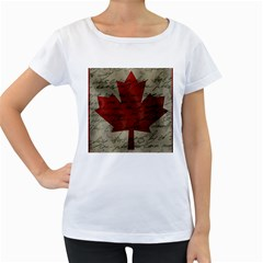 Canada flag Women s Loose-Fit T-Shirt (White)