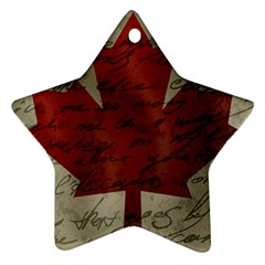 Canada flag Star Ornament (Two Sides)