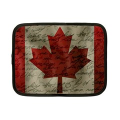 Canada flag Netbook Case (Small)
