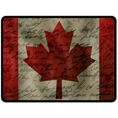 Canada flag Fleece Blanket (Large)