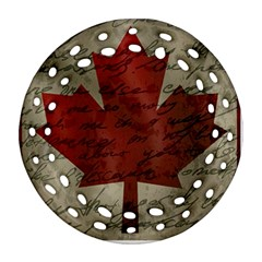 Canada flag Ornament (Round Filigree)
