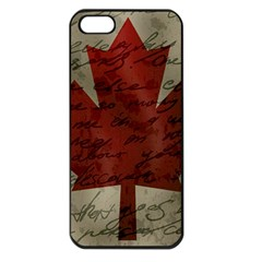 Canada flag Apple iPhone 5 Seamless Case (Black)