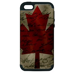 Canada flag Apple iPhone 5 Hardshell Case (PC+Silicone)