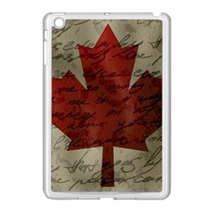 Canada flag Apple iPad Mini Case (White)