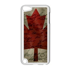 Canada flag Apple iPod Touch 5 Case (White)
